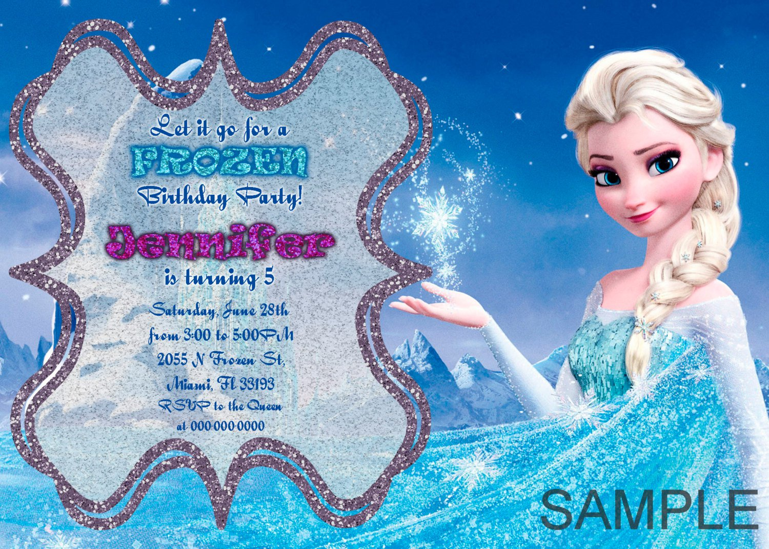 Frozen Party Invitations Uk Printable