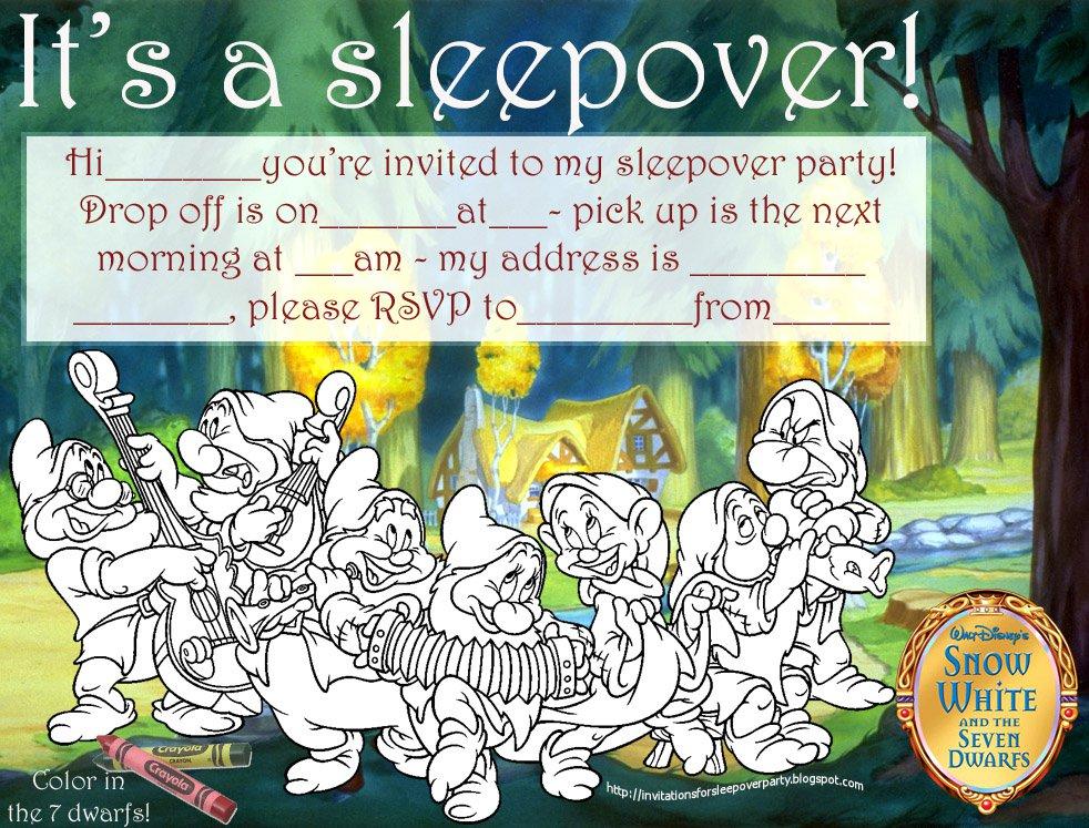 Girls Sleepover Invitations Free Printable 2018