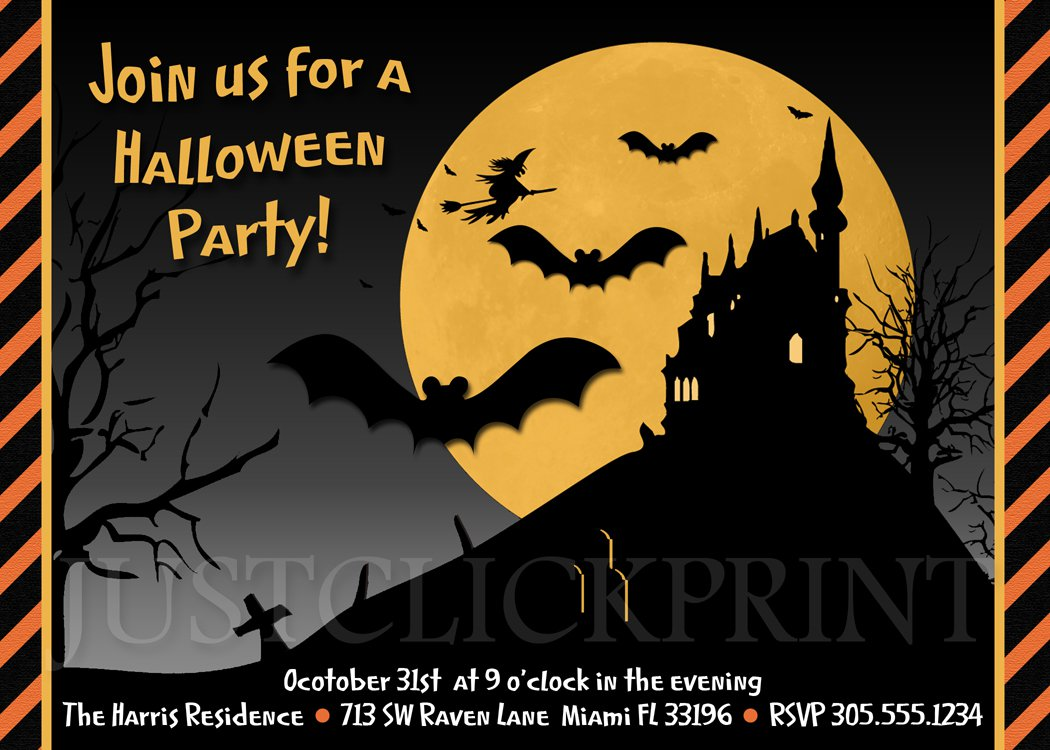Halloween Invitation Cards Printable