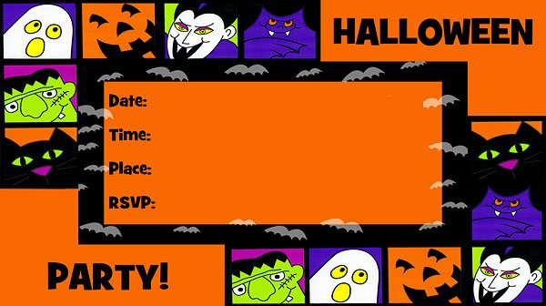 Halloween Invitations Templates Printable Free 2018