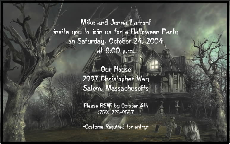 Halloween Party Invitations Printable Free Scary 2015