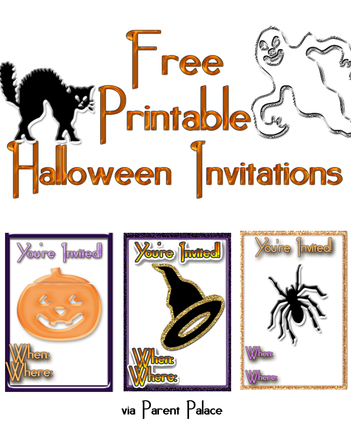 Halloween Party Invitations Printable Free Scary 2016