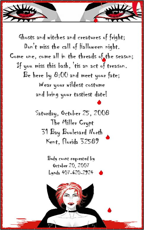 Halloween Party Invitations Printable Free Scary 2018