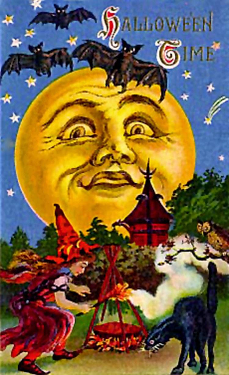 Halloween Postcard Invite Free Printables