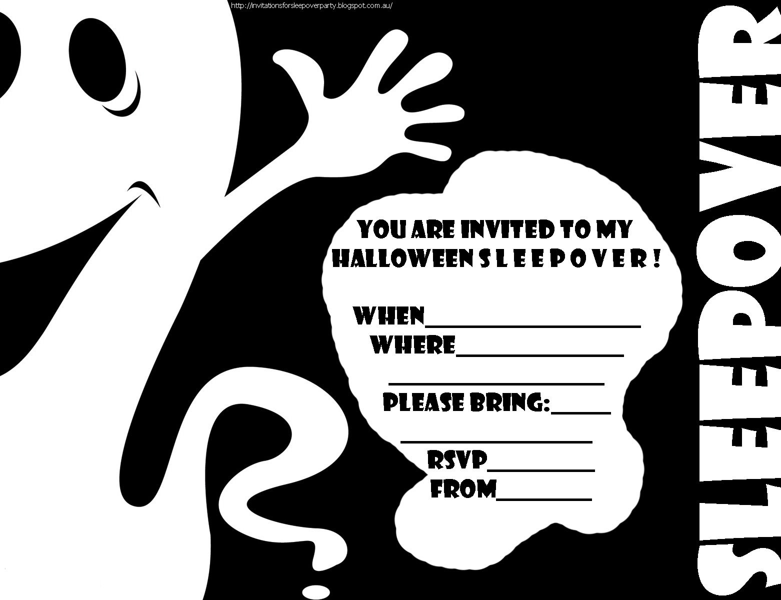Halloween Printable Invitations