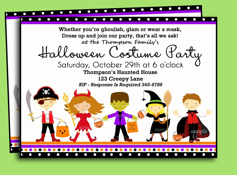 Halloween Printable Invitations Kids