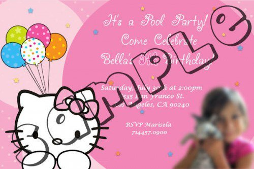 Hello Kitty Birthday Invitation Cards Print 2018