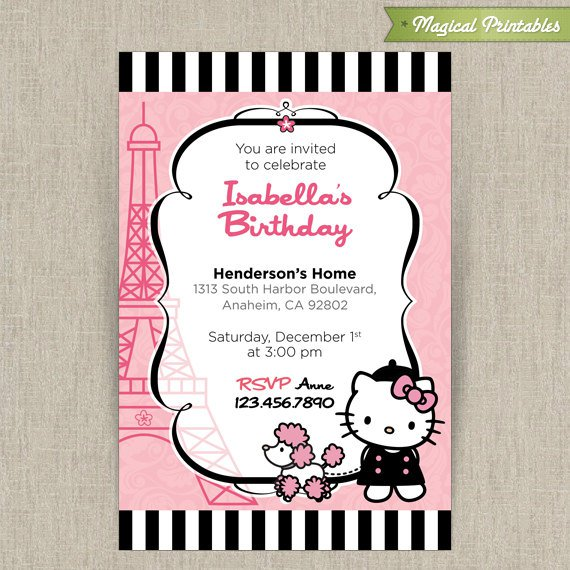 Hello Kitty Invitations Printable 2017