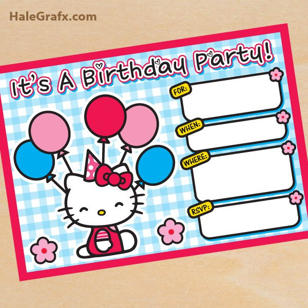 Hello Kitty Invitations Printable 2018
