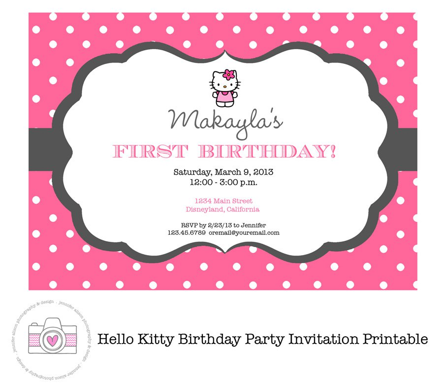 Hello Kitty Invitations Printable