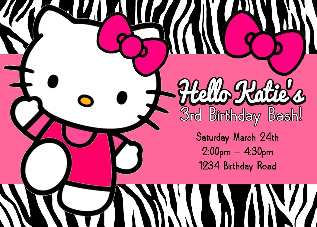 Kitty Invitations Printable Birthday - Free hello kitty birthday invitation templates