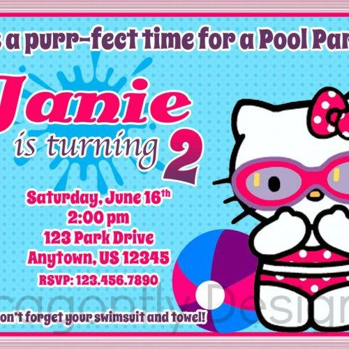 Hello Kitty Party Invitations Printable 2015