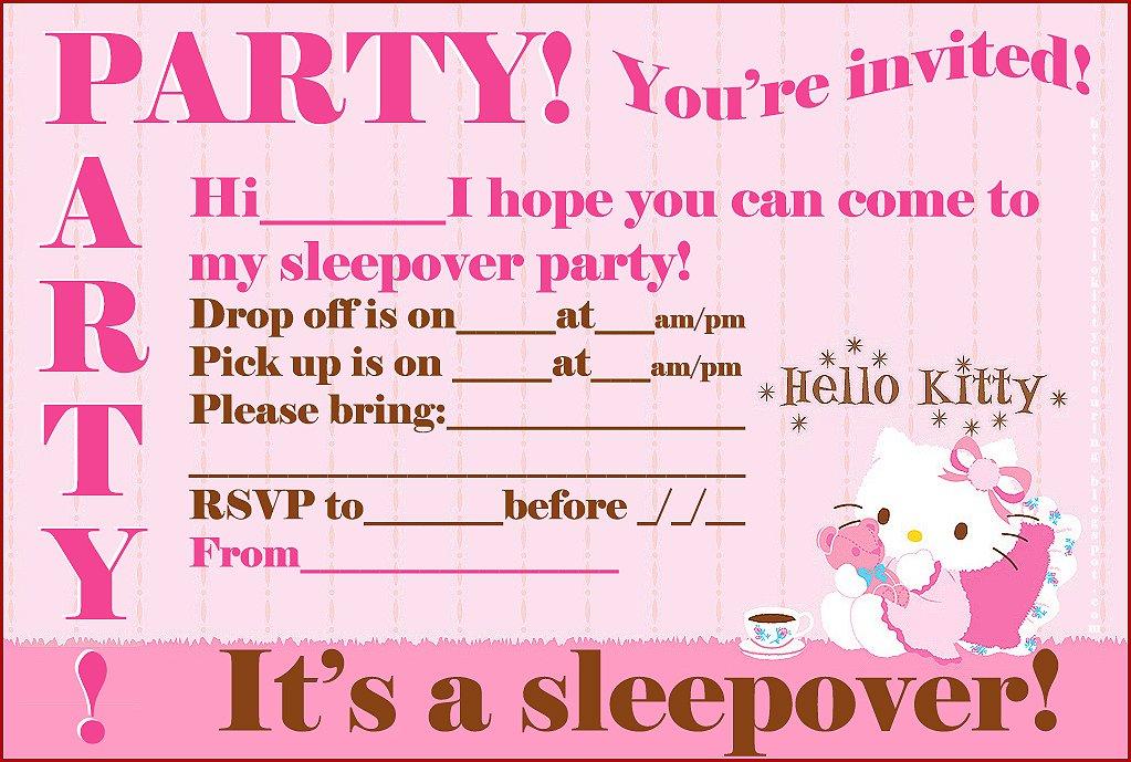 Hello Kitty Party Invitations Printable 2016
