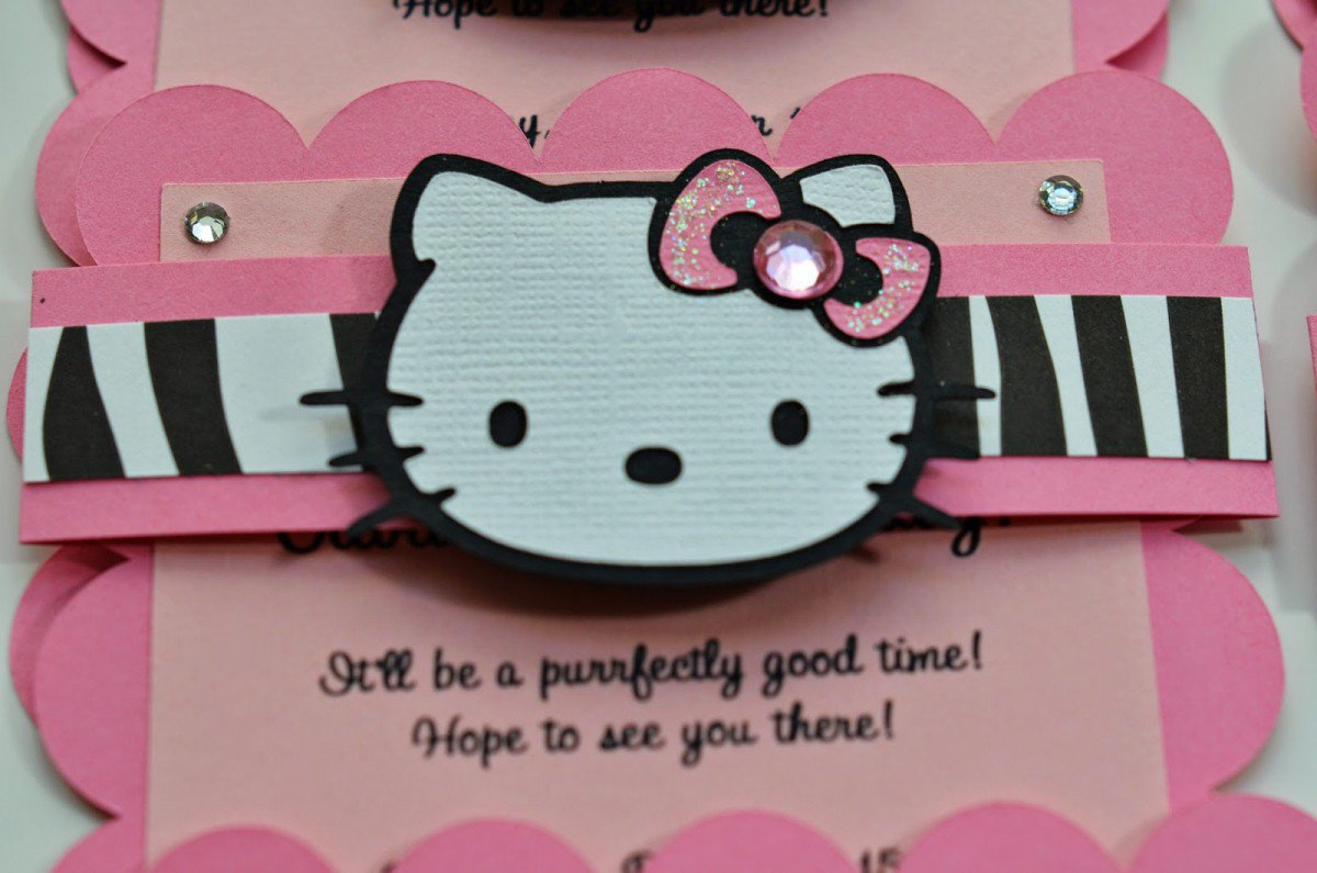 Hello Kitty Party Invitations Printable 2018