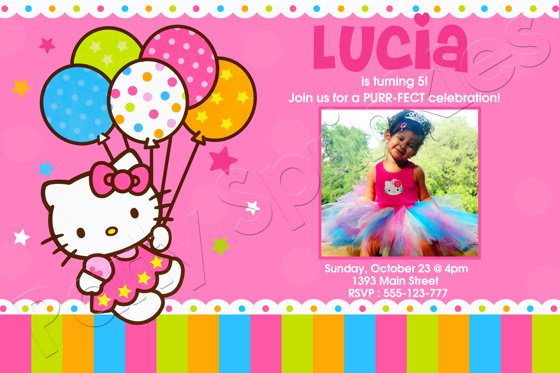 Hello Kitty Printable Birthday Invitations Free 2015