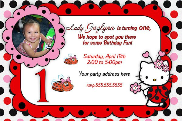 Hello Kitty Printable Birthday Party Invitations