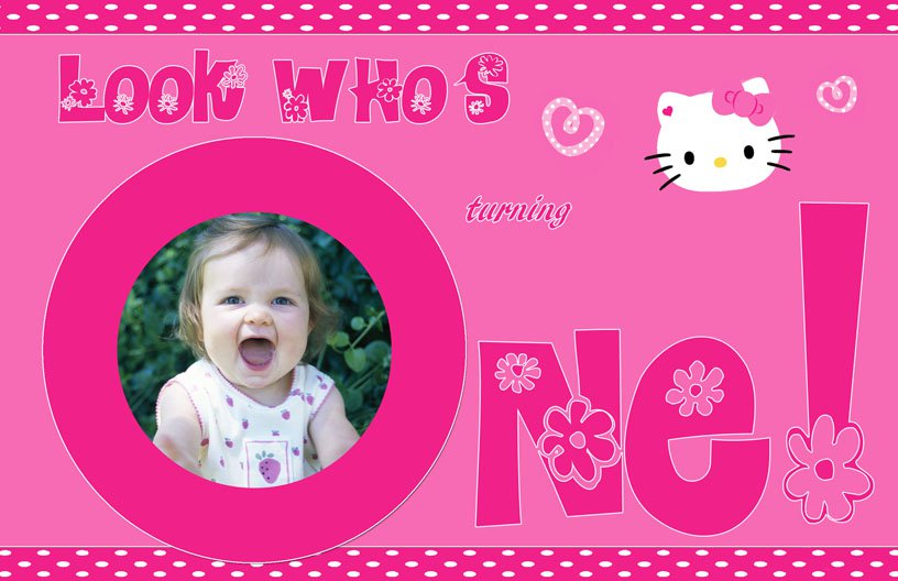 Hello Kitty Printable Invitation Cards 2015