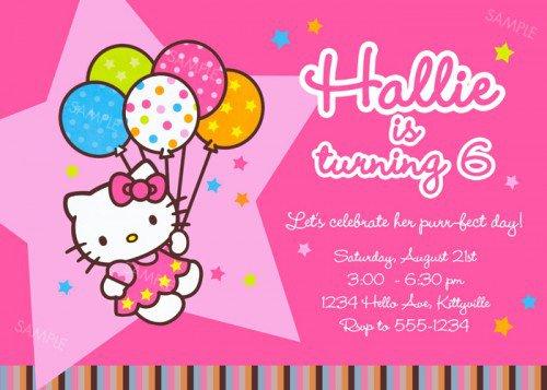 Hello Kitty Printable Invitation Cards 2018
