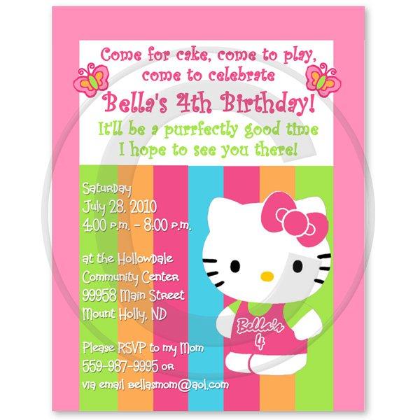 Hello Kitty Printable Invitation Template 2015