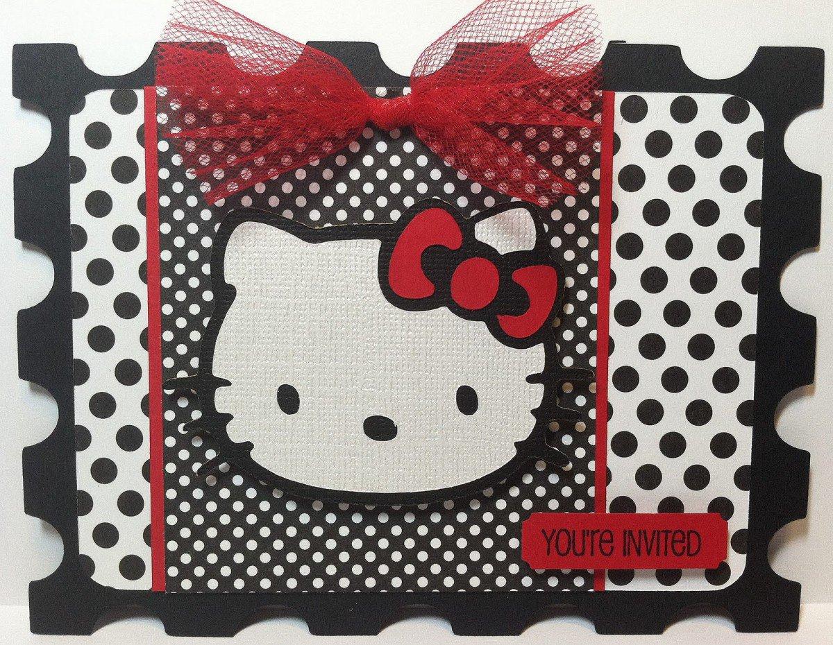 Hello Kitty Printable Invitation Template 2018