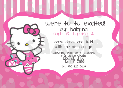 Hello Kitty Printable Invitations Birthday 2016