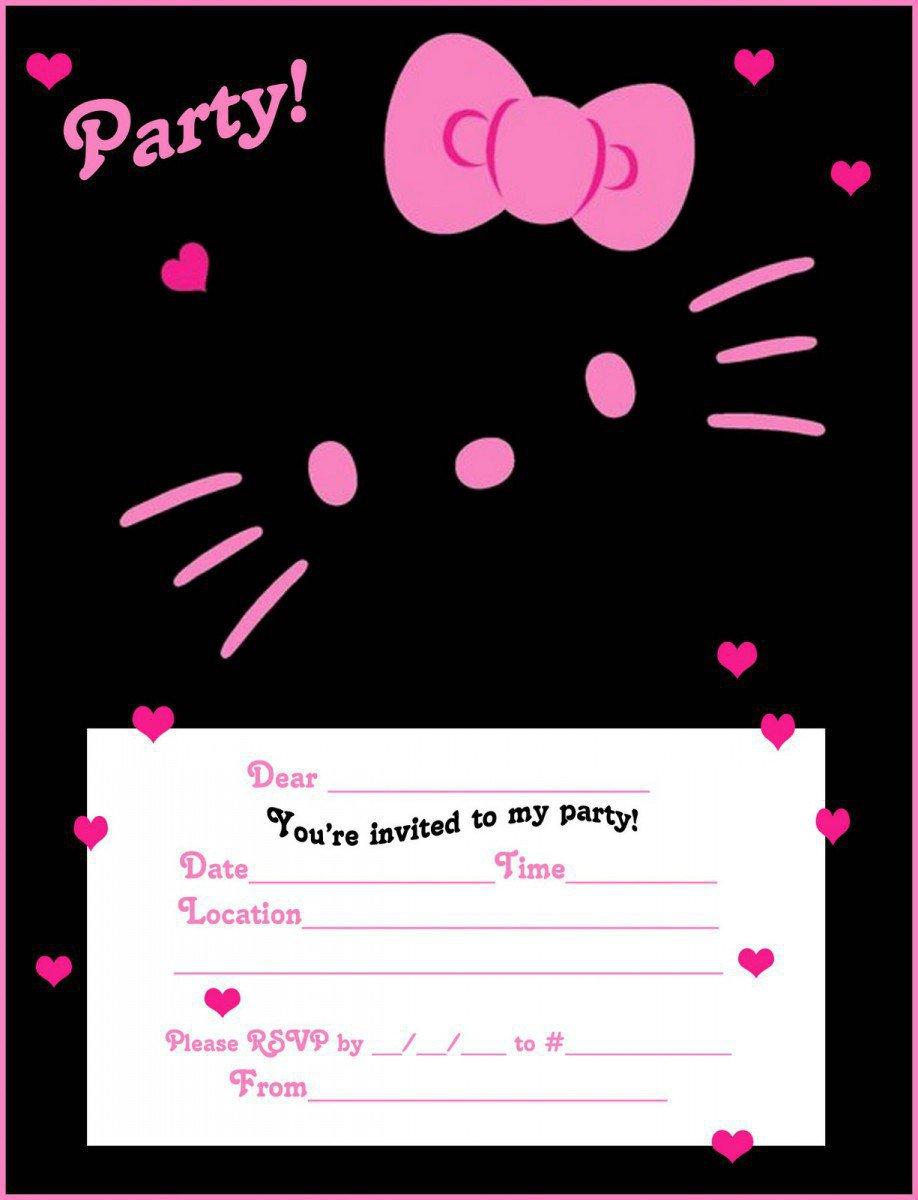Hello Kitty Printable Invitations Birthday 2017