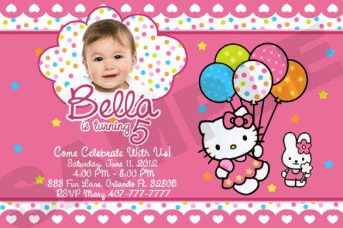 Hello Kitty Printable Invitations Birthday 2018