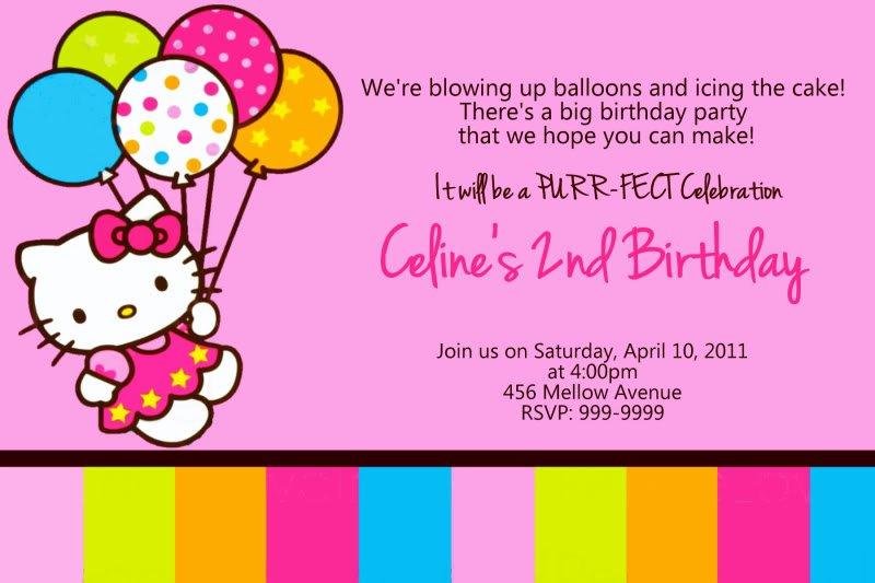 Hello Kitty Printable Invitations Birthday