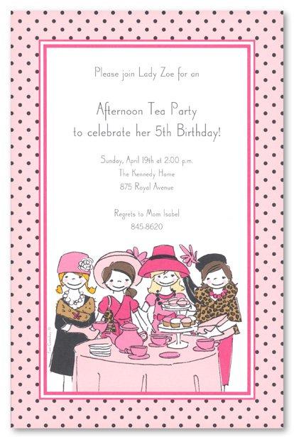 High Tea Party Invitation Printable 2015