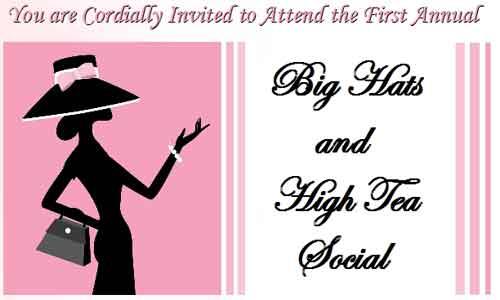 High Tea Party Invitation Printable 2016