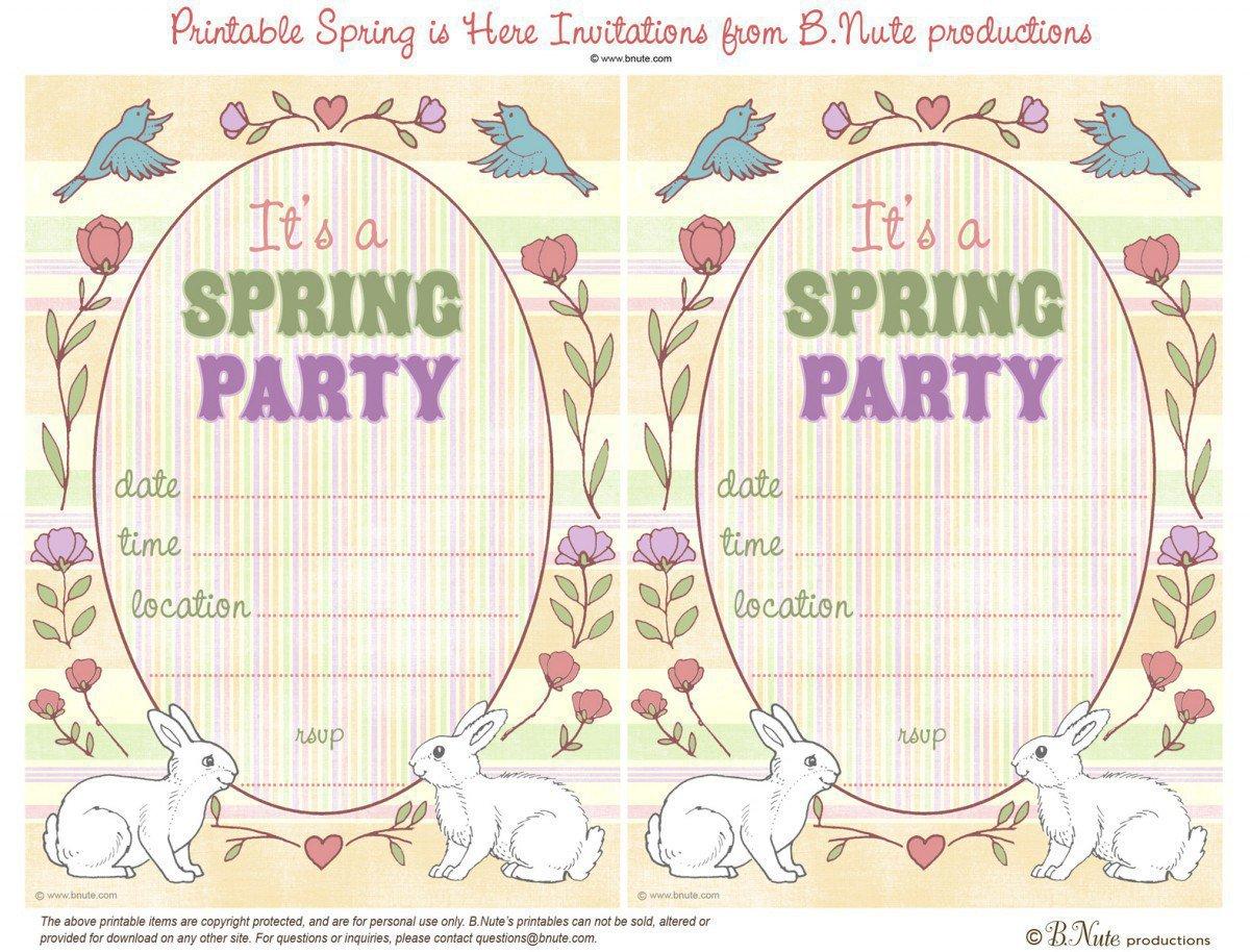 High Tea Party Invitation Printable