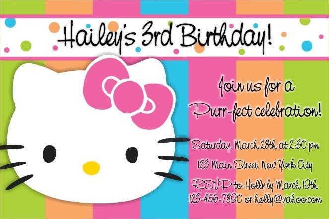 Kids Birthday Party Invitations Templates Free Printable 2018