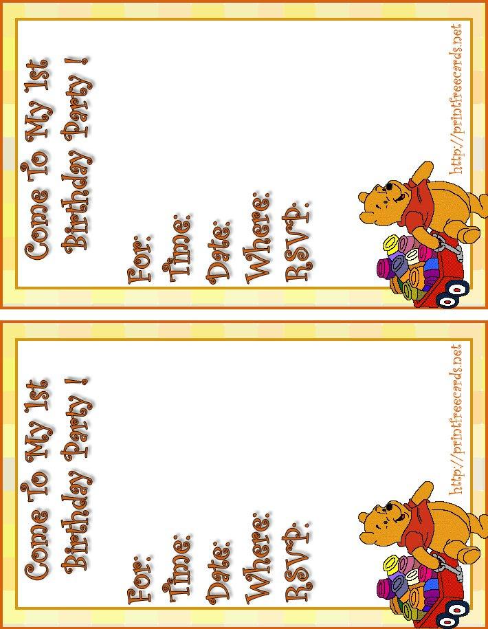 Kids Invitations Free Printable 2015