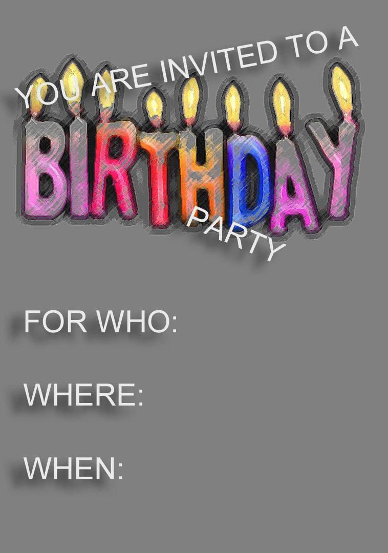 Kids Invitations Printable Free 2015