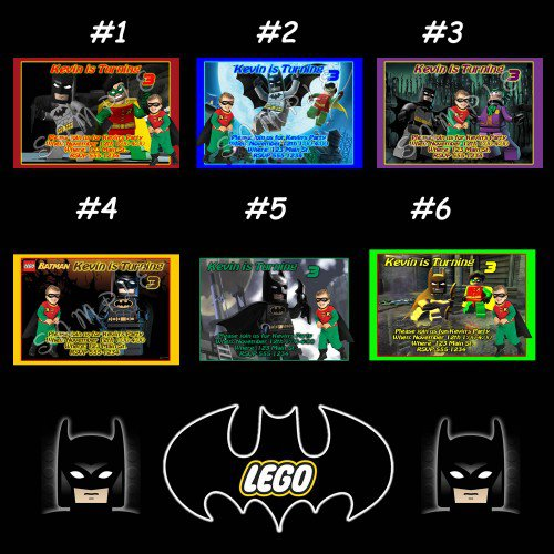 Lego Batman Party Invitations Printable