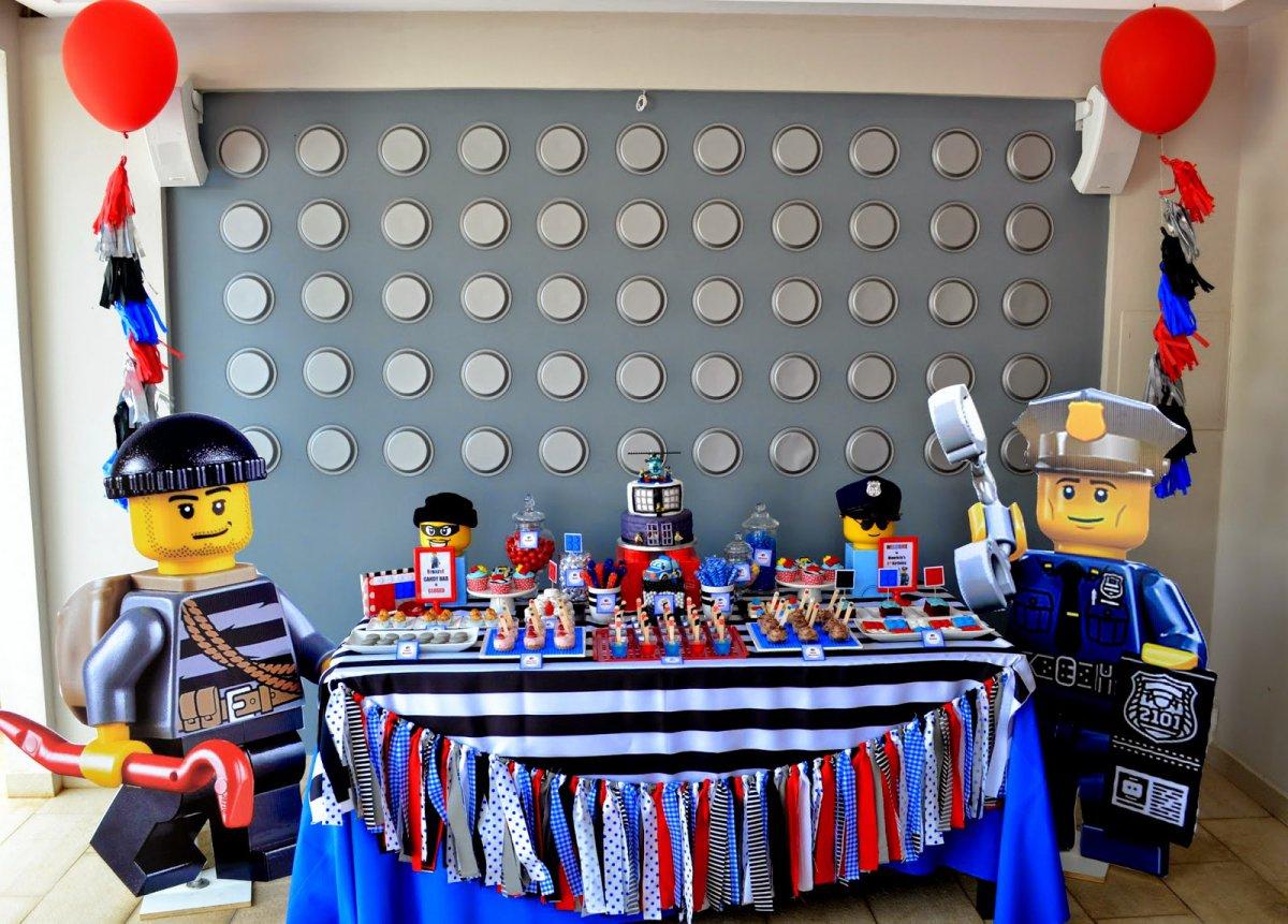 Lego City Police Printable Invitations