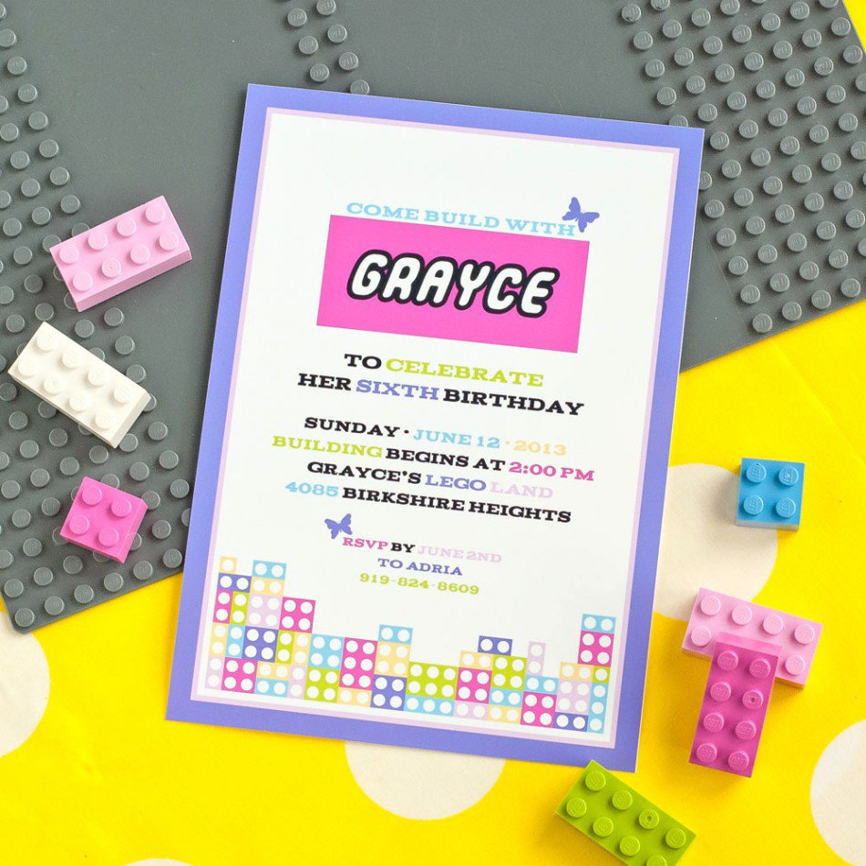 Lego Friends Birthday Party Invitations Printable