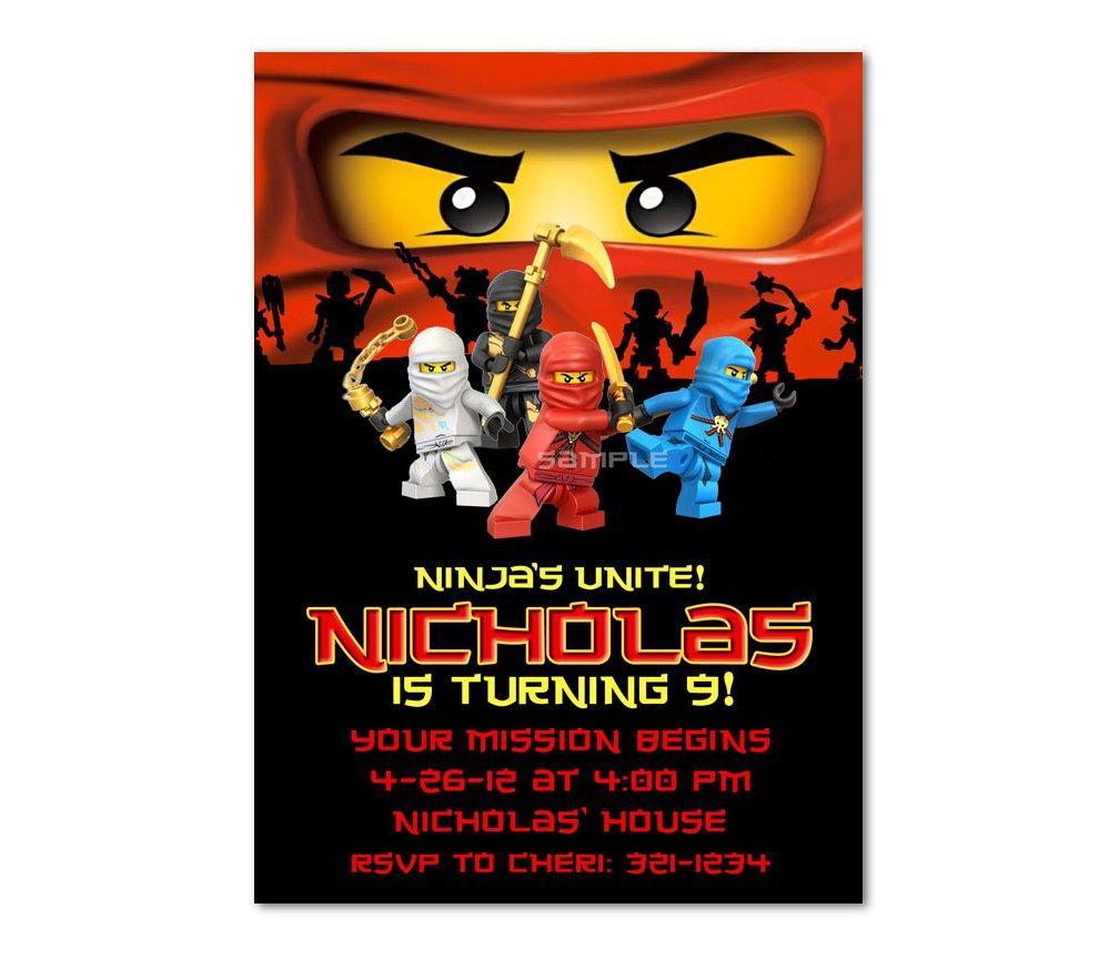 Lego Ninjago Party Invitations Printable