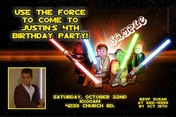 Lego Star Wars Birthday Invitations Printable 2018