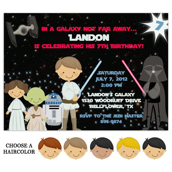 Lego Star Wars Birthday Invitations Printable