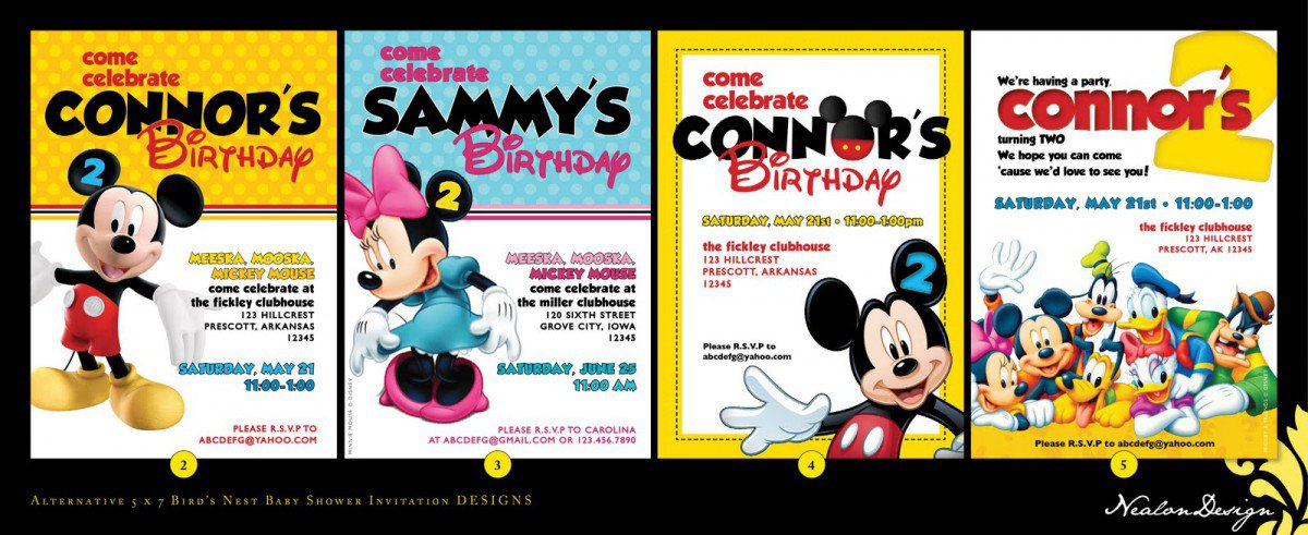 Mickey Mouse Clubhouse Birthday Invitation Template Free 2016