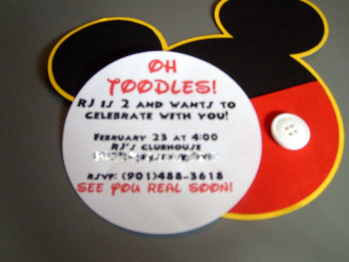 Mickey Mouse Clubhouse Invitation Template Ideas Free 2015