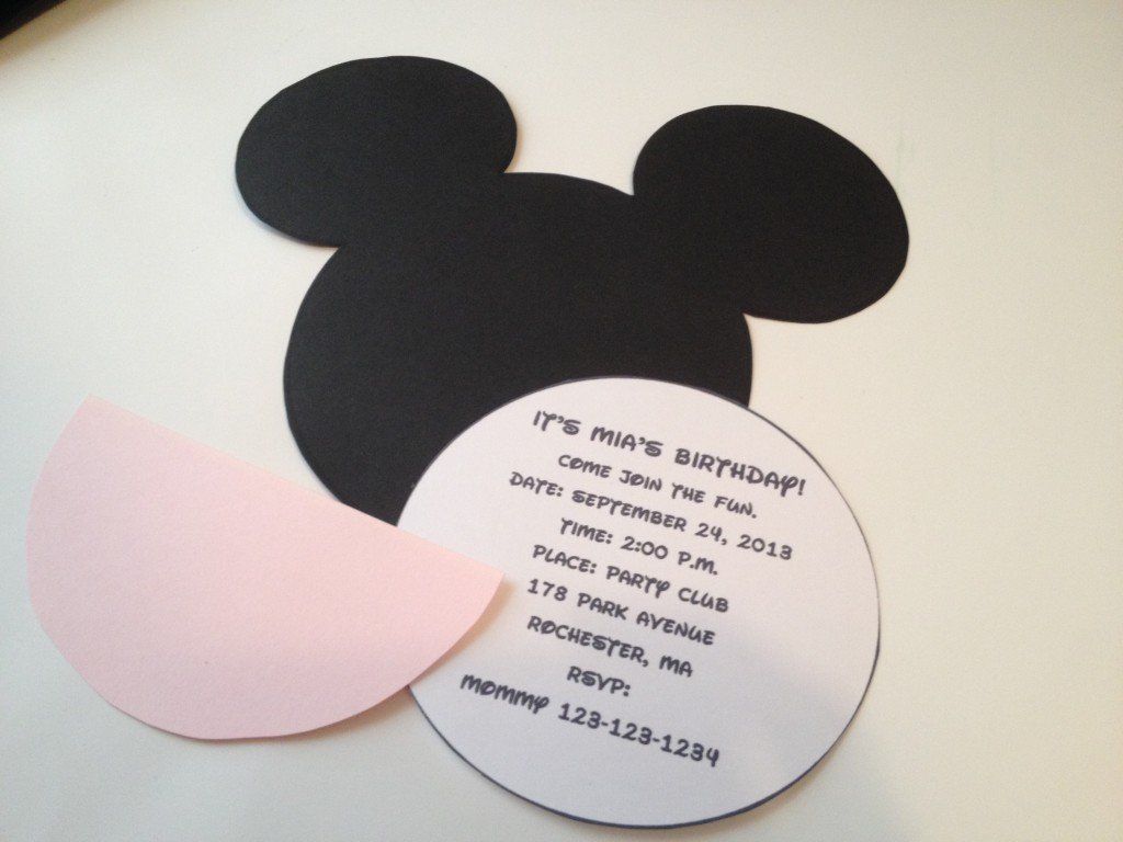 template for minnie mouse invitations