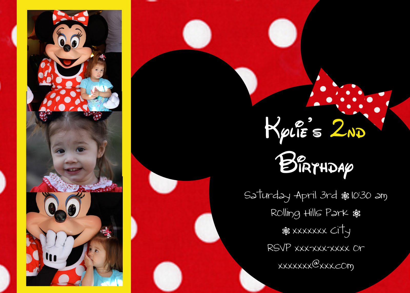 Minnie Mouse Invitation Template Online