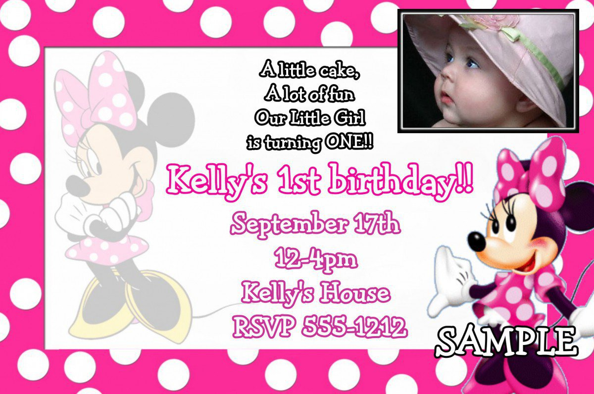 find this pin and more on 1st birthday u2026 21 awesome minnie mouse invitation u2026 adorable minnie mouse birthday invitation template second u2026