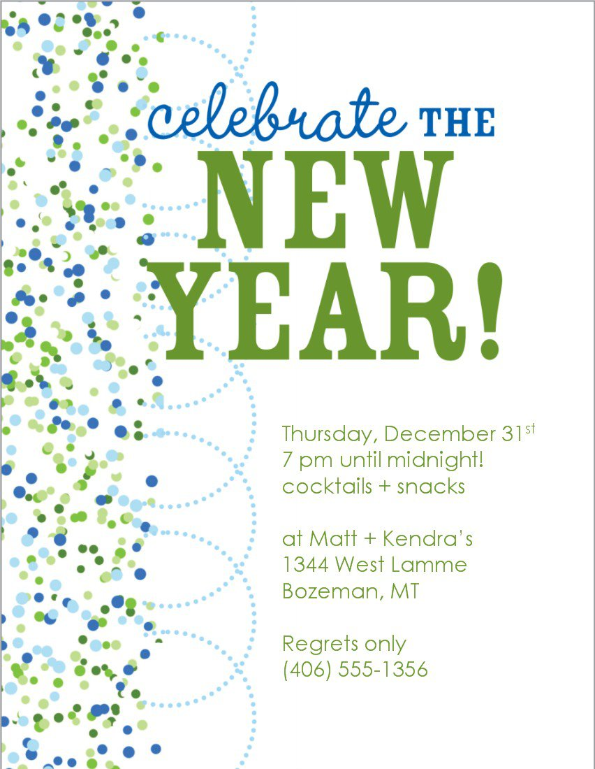 New year eve invitation templates free for New year invite templates free