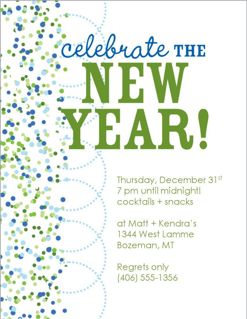 New Year Eve Invitation Templates Free 2015