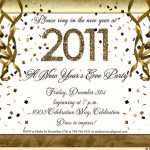New Year Eve Invitation Templates Free 2016