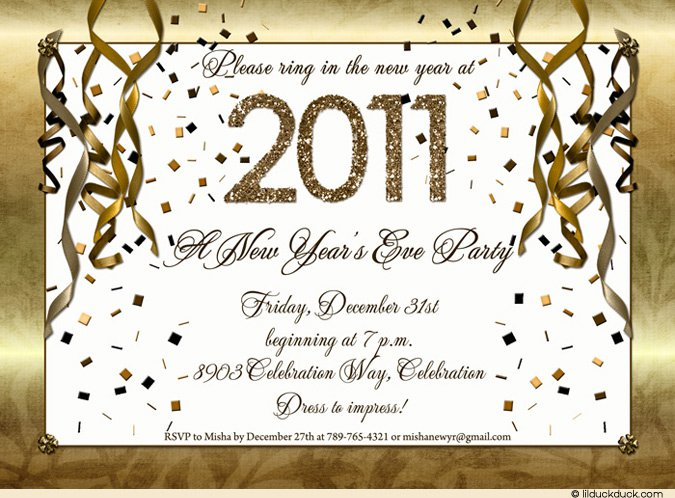 New years eve party invitation template for New year invite templates free