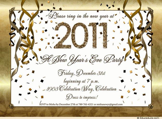 New Year Eve Invitation Templates Free 2016